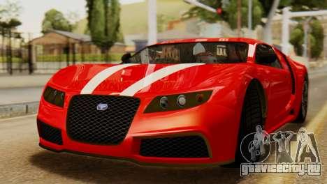 GTA 5 Adder Secondary Color Tire Dirt для GTA San Andreas вид сзади слева