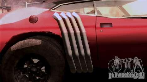 Ford Falcon XA Red Bat Mad Max 2 для GTA San Andreas вид изнутри