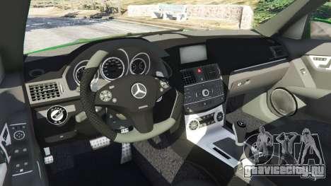 Mercedes-Benz C63 (W204) AMG для GTA 5 вид справа