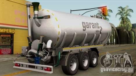 Trailer Kotte Garant для GTA San Andreas вид слева
