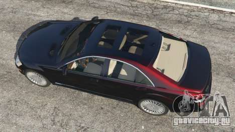 Mercedes-Benz S500 W221 v0.4 [Alpha] для GTA 5 вид сзади