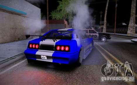 Buffalo GTR для GTA San Andreas вид сзади слева