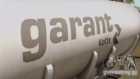 Trailer Kotte Garant для GTA San Andreas вид сзади