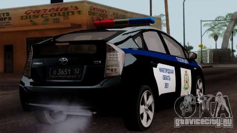 Toyota Prius ДПС для GTA San Andreas вид слева
