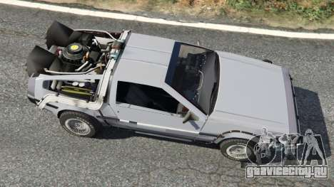 DeLorean DMC-12 Back To The Future v0.2 для GTA 5 вид сзади
