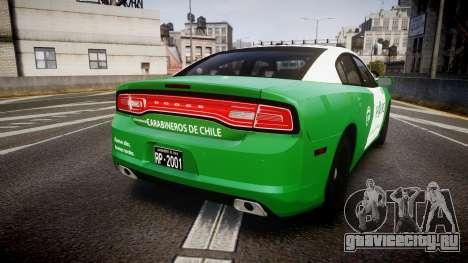 Dodge Charger Carabineros de Chile [ELS] v2.0 для GTA 4 вид сзади слева