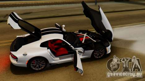 Dodge Viper SRT GTS 0013 IVF (HQ PJ) LQ Dirt с целью GTA San Andreas лик сзади