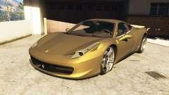 Ferrari 458 Italia v0.9.3 для GTA 5