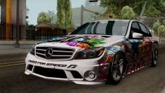 Mercedes-Benz C63 AMG Momoka and Nonoka Itasha для GTA San Andreas