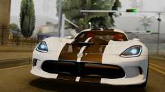 Dodge Viper SRT GTS 2013 IVF (HQ PJ) LQ Dirt для GTA San Andreas