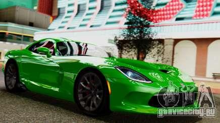 Dodge Viper SRT GTS 2013 IVF (MQ PJ) No Dirt для GTA San Andreas