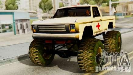 Новая оригинальная покраска для Monster A для GTA San Andreas
