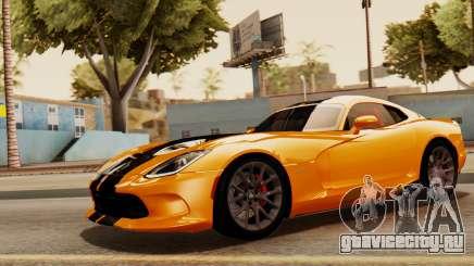 Dodge Viper SRT GTS 2013 IVF (HQ PJ) No Dirt для GTA San Andreas