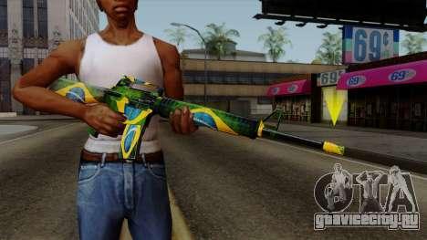 Brasileiro M4 v2 для GTA San Andreas