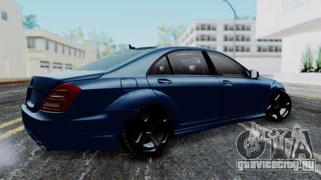 Mercedes-Benz W221 для GTA San Andreas вид слева