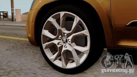 Skoda Yeti 2014 для GTA San Andreas вид сзади слева