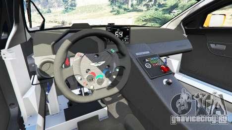 Aston Martin Vantage GT3 для GTA 5 вид спереди справа