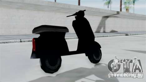 Scooter from Bully для GTA San Andreas вид сзади слева