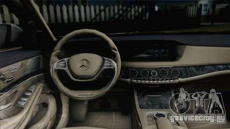 Mercedes-Benz S500 W222 для GTA San Andreas вид сзади слева