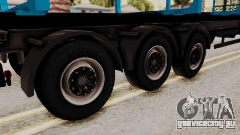 Wood Transport Trailer from ETS 2 для GTA San Andreas вид сзади слева