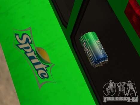 Boxville Sprite для GTA San Andreas вид изнутри