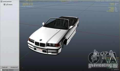 BMW M3 E36 Cabriolet 1997 для GTA 5 колесо и покрышка