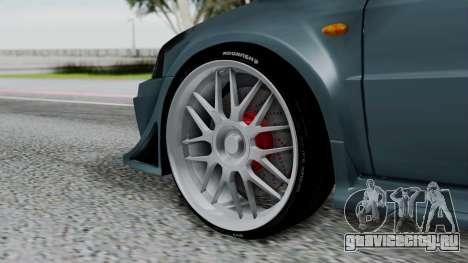 Mitsubishi Lancer Evolution Turbo для GTA San Andreas вид сзади слева