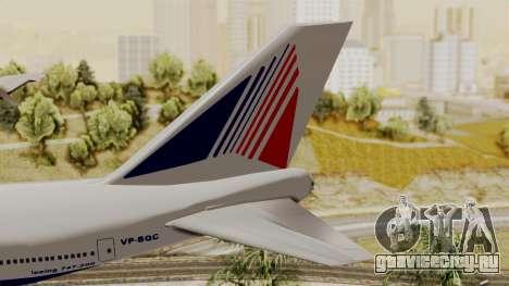 Boeing 747 TransAero для GTA San Andreas вид сзади слева