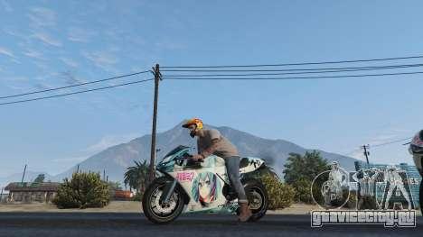 Pegassi Bati 801RR Anime Texture Pack для GTA 5 вид сзади слева