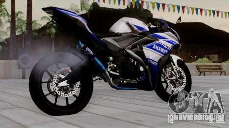 Yamaha YZF R-25 GP Edition 2014 для GTA San Andreas вид слева