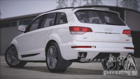 Audi Q7 2008 для GTA San Andreas вид сзади