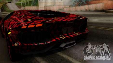 Lamborghini Aventador LP-700 Batik для GTA San Andreas салон