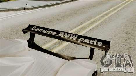 BMW V12 LMR 1999 Stock для GTA San Andreas вид сзади