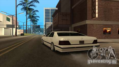 Mercedes Benz W140 S600 для GTA San Andreas вид сзади слева