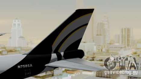 Boeing 747 Southern Air для GTA San Andreas вид сзади слева
