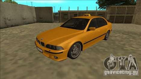 1999 BMW 530d E39 Taxi для GTA San Andreas вид сзади слева