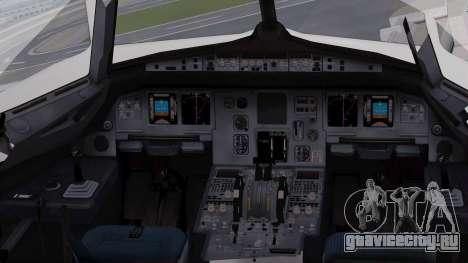 Airbus A320-200 Iraqi Airways для GTA San Andreas вид изнутри
