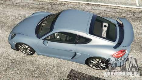 Porsche Cayman 2016 для GTA 5 вид сзади