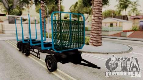 Wood Transport Trailer from ETS 2 для GTA San Andreas вид справа