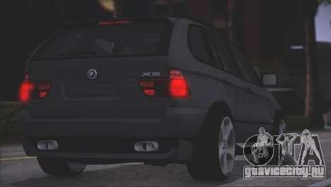 BMW X5 E53 для GTA San Andreas вид изнутри