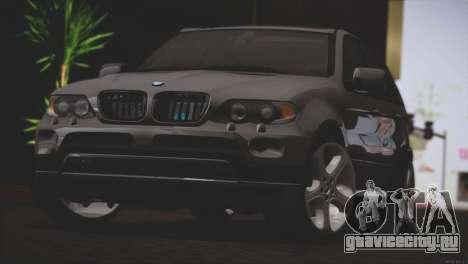 BMW X5 E53 для GTA San Andreas вид сзади слева