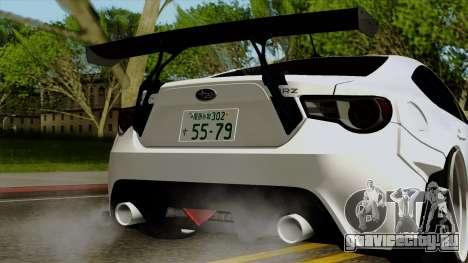 Subaru BRZ 2010 Rocket Bunny v1 для GTA San Andreas вид изнутри