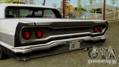 Taxi-Savanna для GTA San Andreas вид сзади слева