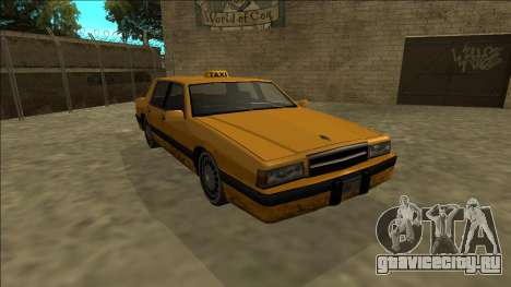 Willard Taxi для GTA San Andreas вид сзади