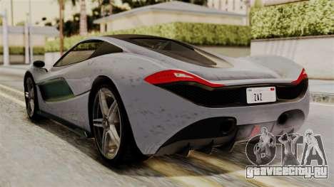 GTA 5 Progen T20 SA Style для GTA San Andreas вид слева