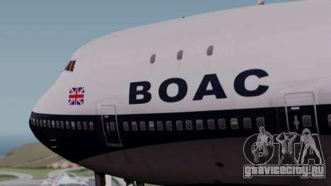 Boeing 747-100 British Overseas Airways для GTA San Andreas вид сзади