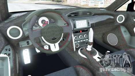 Toyota GT-86 Rocket Bunny v1.1 для GTA 5 вид сзади справа
