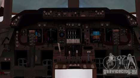 Boeing 747-100 British Overseas Airways для GTA San Andreas вид изнутри