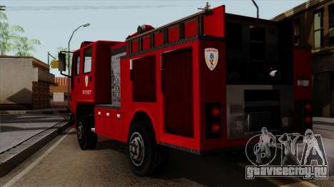 DFT-30 Tokyo Fire Department Pumper для GTA San Andreas вид слева