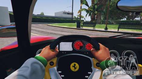 Ferrari Enzo v0.5 для GTA 5 вид сзади